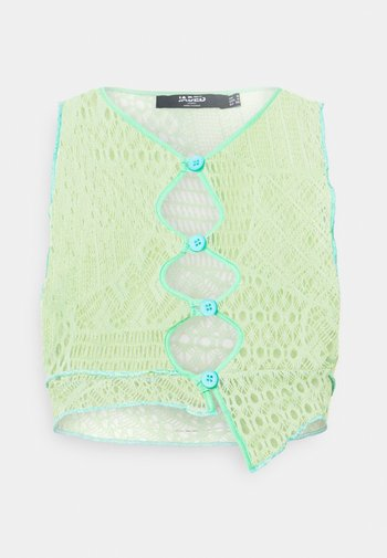ENGINEERED WITH BUTTON DETAIL - Topper - yellow/ green/ blue
