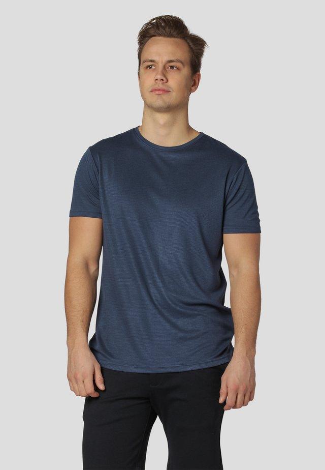 Print T-shirt - ocean blue