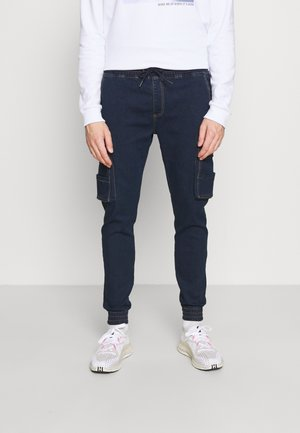 JOGG CARGO - Relaxed fit jeans - vintage blue