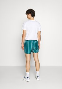 Weekday - STRIPED SWIM - Swimming shorts - petrol green/white - 2