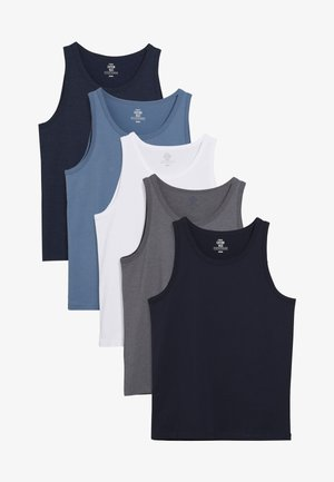 FIVE PACK - Pyjama top - blue