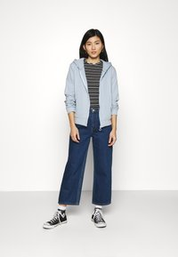 Trendyol - veste en sweat zippée - celestial blue - 1