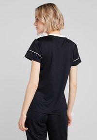 adidas Performance - CLIMALITE PRIMEGREEN JERSEY SHORT SLEEVE - T-shirt med print - black/white - 2