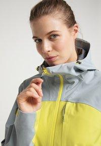 PYUA - Waterproof jacket - french grey - lemon yellow - 3
