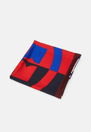 COLOR BLOCK LOGO SSQUARE - Foulard - red