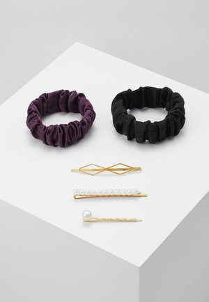 SET-5 PACK - Hair styling accessory - black/purple