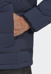 adidas Performance - HELIONIC SOFT HOODED DOWN JACKET - Down jacket - blue - 6