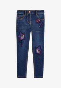 Next - SEQUIN EMBELLISHED - Straight leg jeans - blue - 0