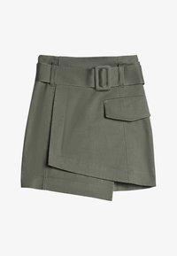Bershka - A-line skirt - khaki - 4