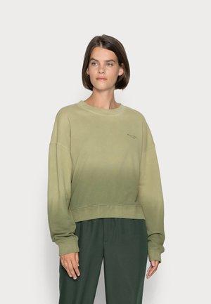 ROUND NECK MODERN COPPED FIT - Sweatshirt - multi/green shades