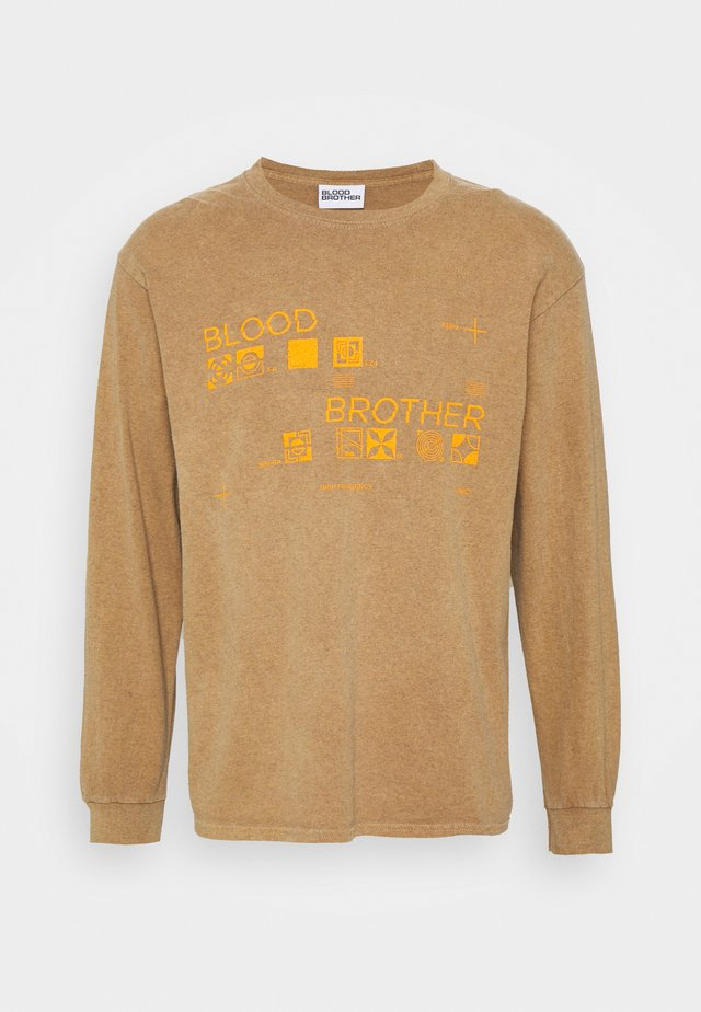 HUGUENOT FREQUENCY BRANDED TEE UNISEX - Long sleeved top - sand