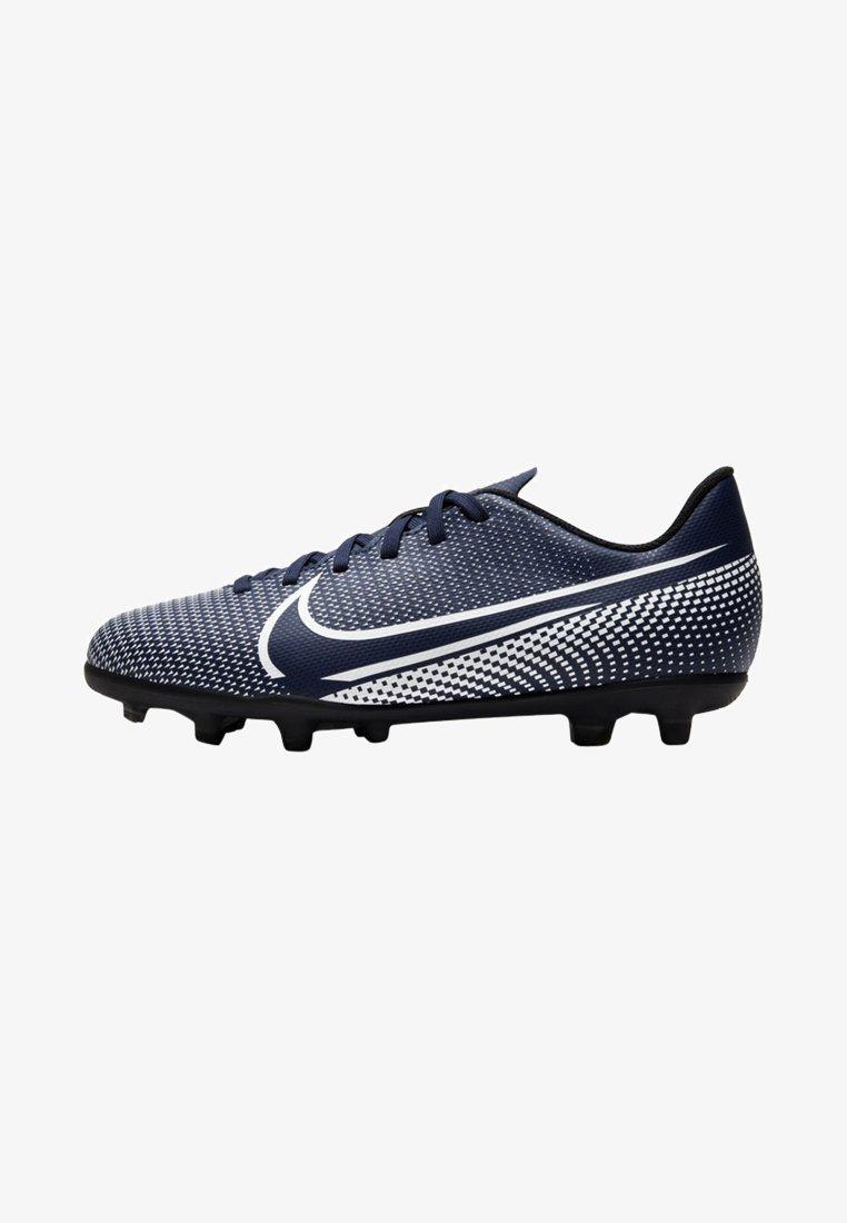 Nike Performance - MERCURIAL JR VAPOR 13 CLUB FG/MG UNISEX - Moulded stud football boots - midnight navy/white