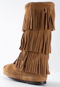 Minnetonka - 3 LAYER FRINGE - Cowboy-/Bikerlaarzen - light brown - 5