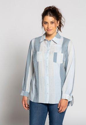 Button-down blouse - eisblau