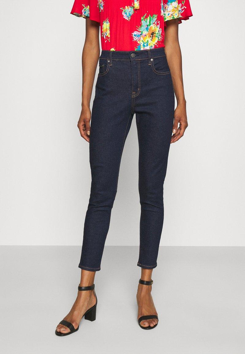 Lauren Ralph Lauren - 5 POCKET - Skinny džíny - rinse wash