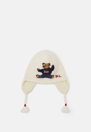 BEAR EARFLAP APPAREL ACCESSORIES UNISEX - Beanie - ivory