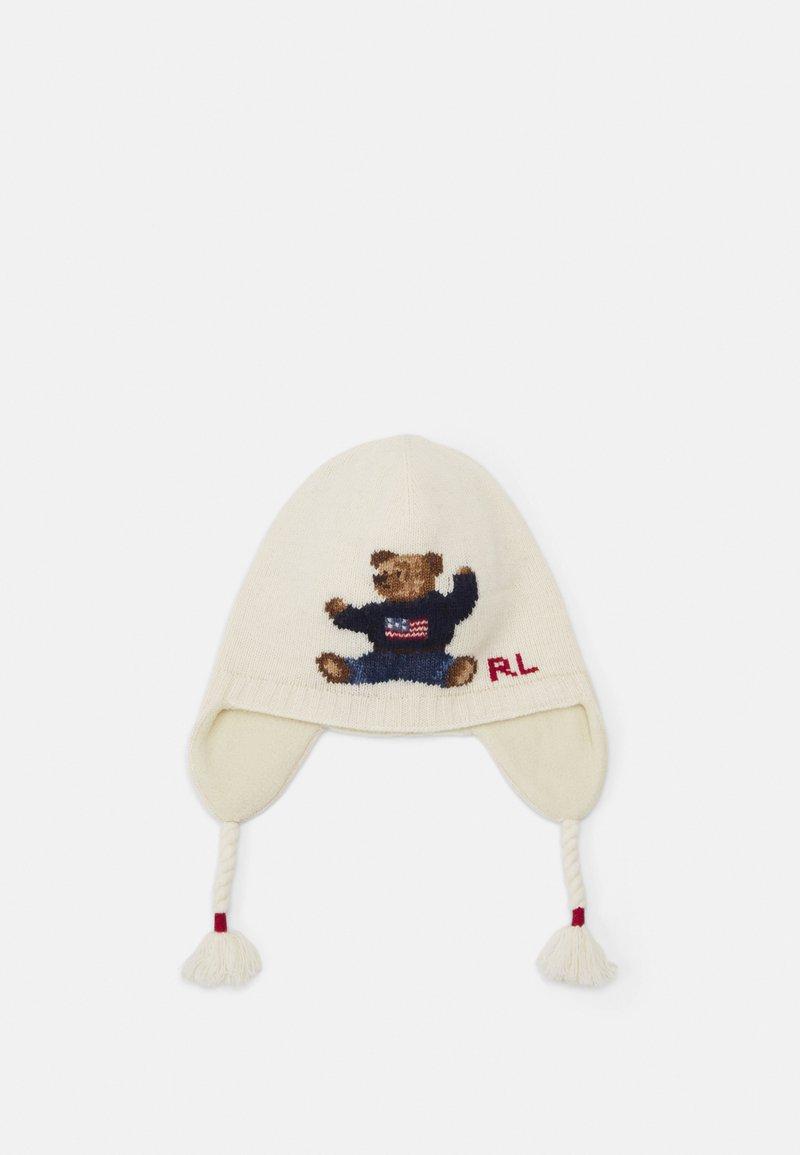 Polo Ralph Lauren - BEAR EARFLAP APPAREL ACCESSORIES UNISEX - Čepice - ivory
