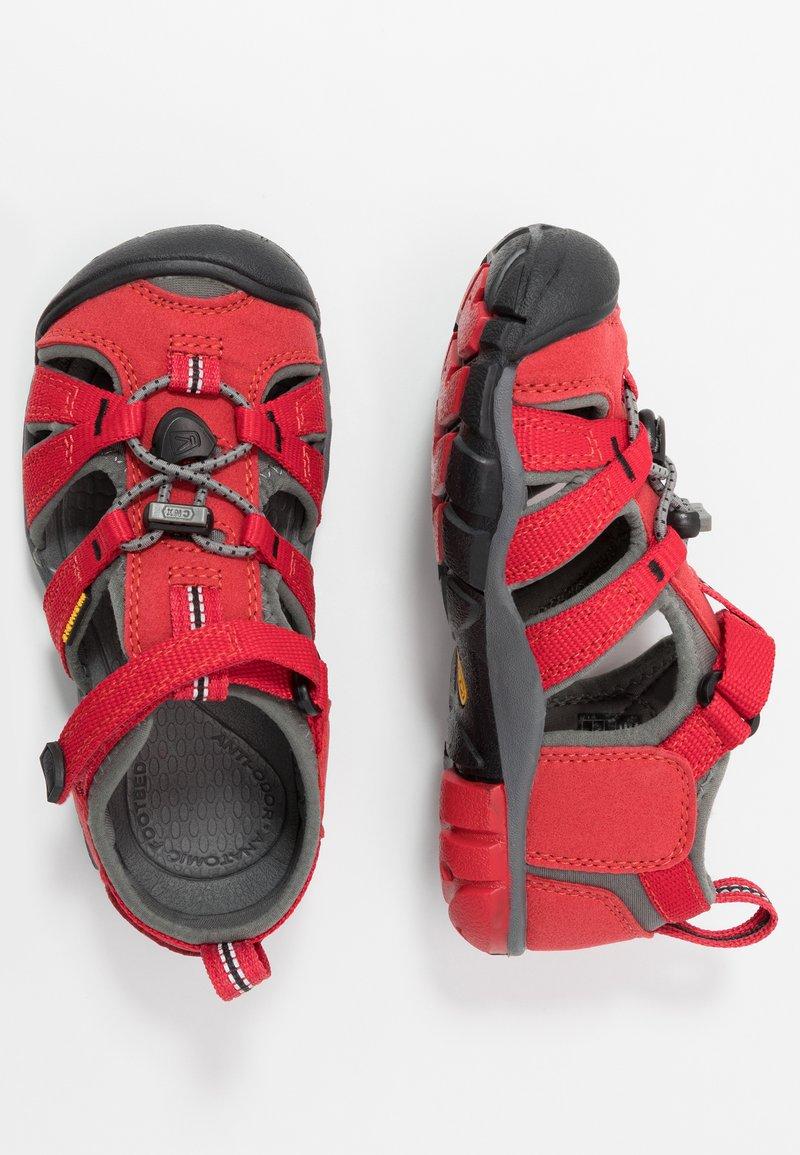 Keen - SEACAMP II CNX - Chodecké sandály - racing red/gargoyle