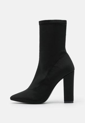 POINTY STRETCHY BOOT - High heeled ankle boots - black