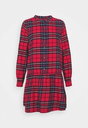 DRESS PLAID - Skjortekjole - red