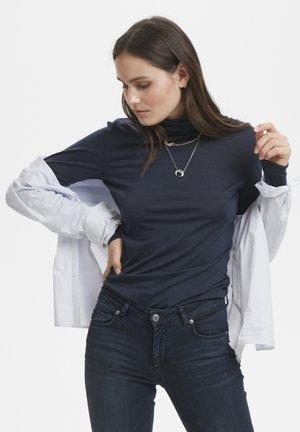 Long sleeved top - navy blazer