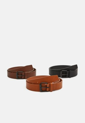 3 PACK - Cinturón - black/brown/cognac