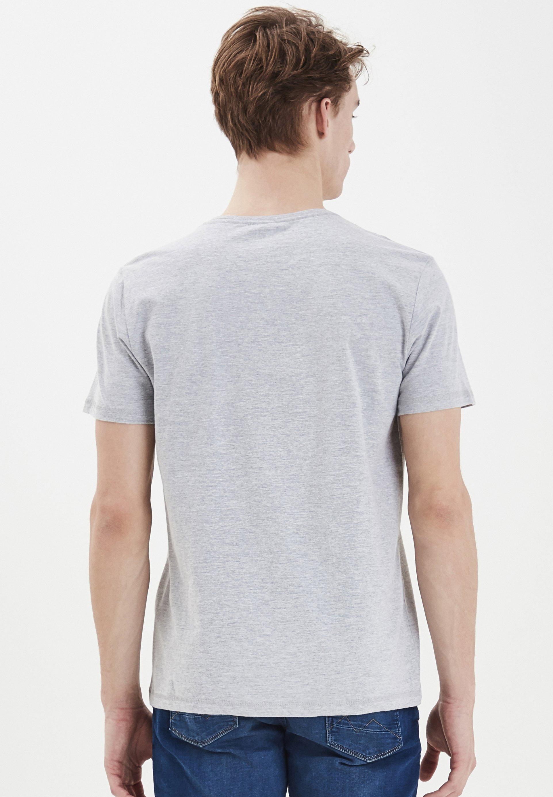Blend TEE REGULAR FIT - Print T-shirt - mottled light grey 9nGwh