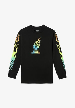 BY GLOW FLAME LS KIDS - T-shirt z nadrukiem - black