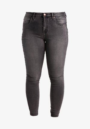 AMY LONG - Skinny džíny - dark grey denim