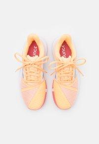 adidas Performance - COURTJAM BOUNCE - Multicourt tennis shoes - acid orange/silver metallic/haze rose - 3