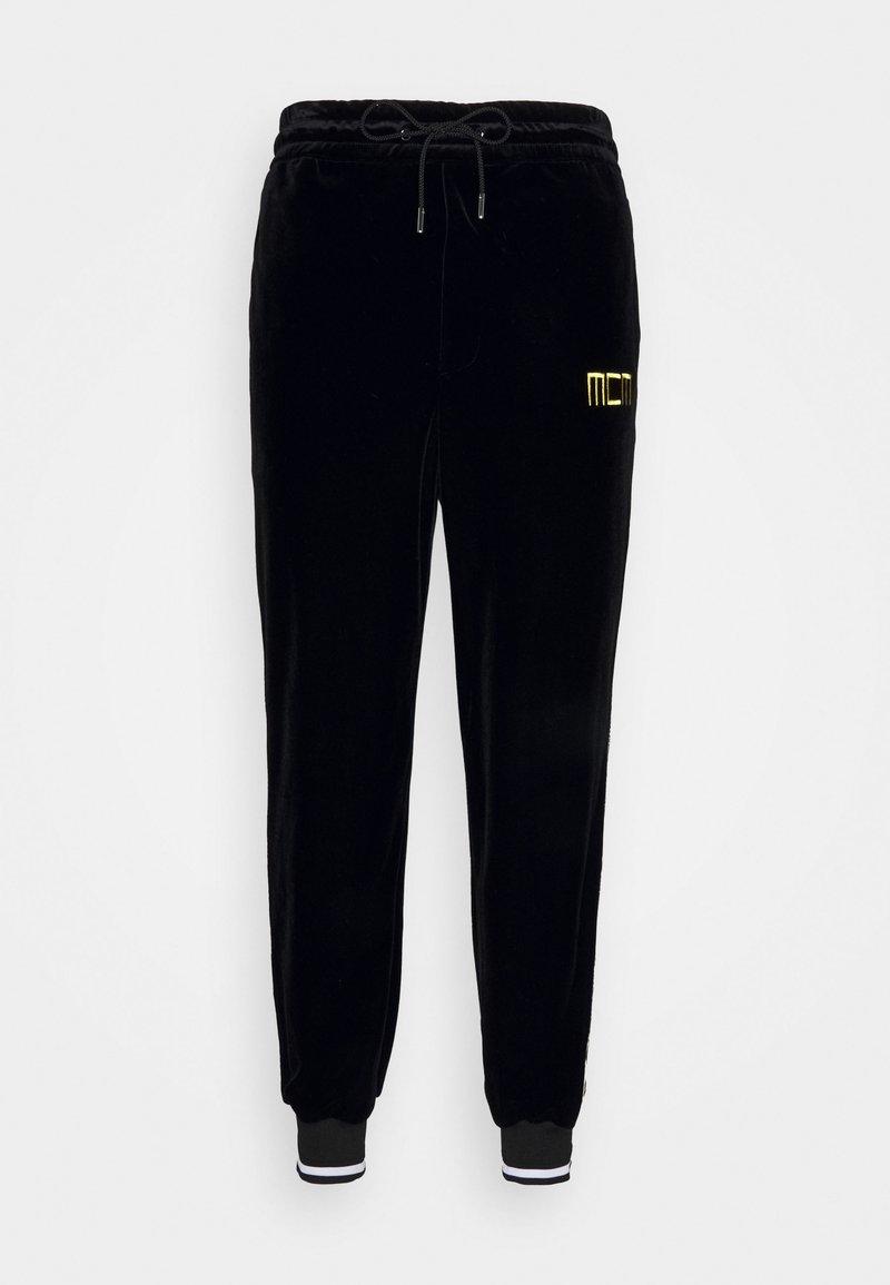 MCM - GEO LAUREL TRACK PANT IN VELOUR - Tracksuit bottoms - black