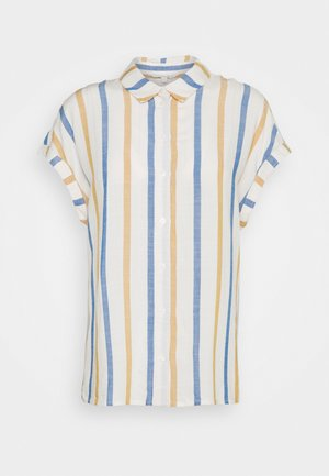 STRUCTURE STRIPE - Chemisier - creme yellow/blue