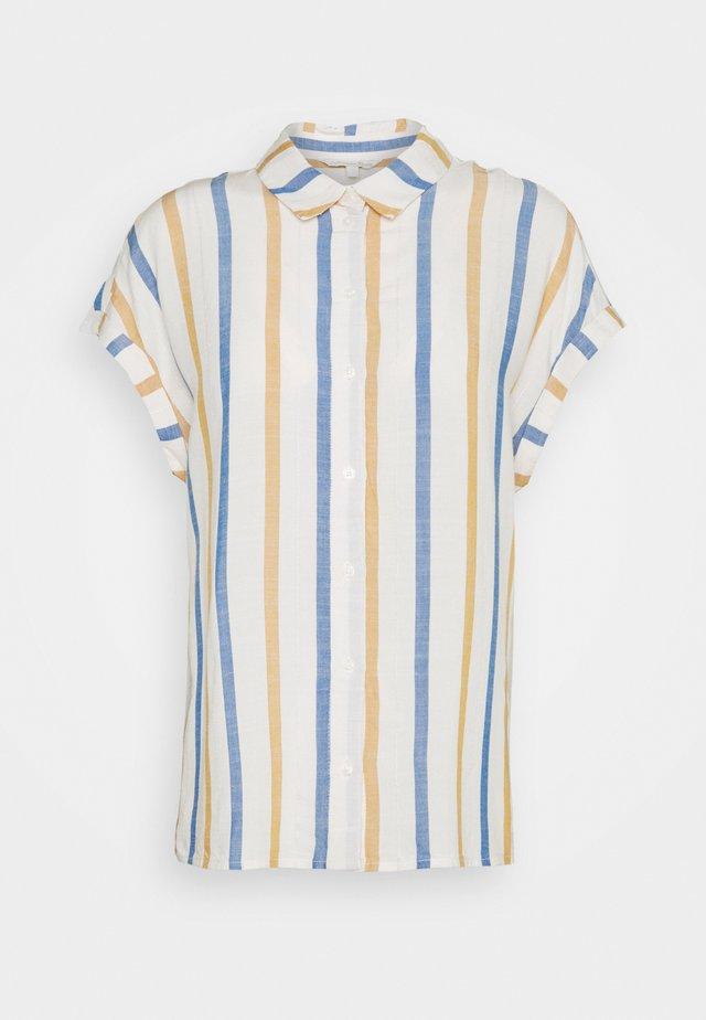 STRUCTURE STRIPE - Button-down blouse - creme yellow/blue