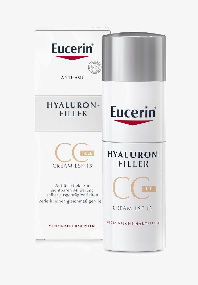 Eucerin - GETÖNTE TAGESCREME HYALURON-FILLER CC CREAM HELL, ANTI AGE CREME - CC cream - -