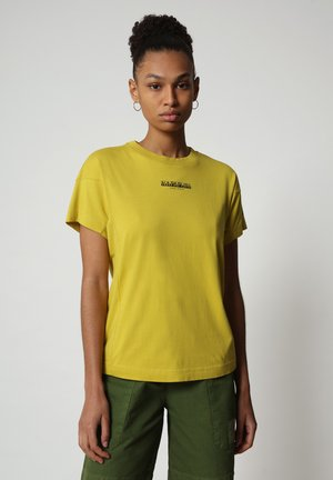 T-shirt con stampa - yellow moss