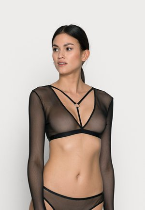 JOY LONGSLEEVE BRA - Pyžamový top - black
