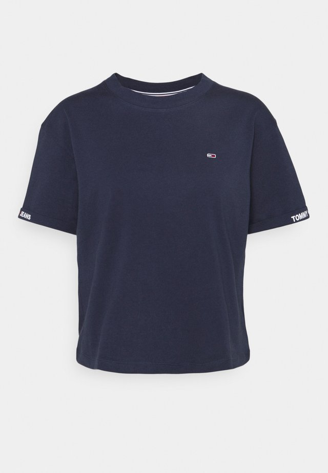 CROP BRANDED TEE - T-shirt con stampa - twilight navy