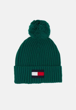 BIG FLAG BEANIE POM POM - Čepice - green