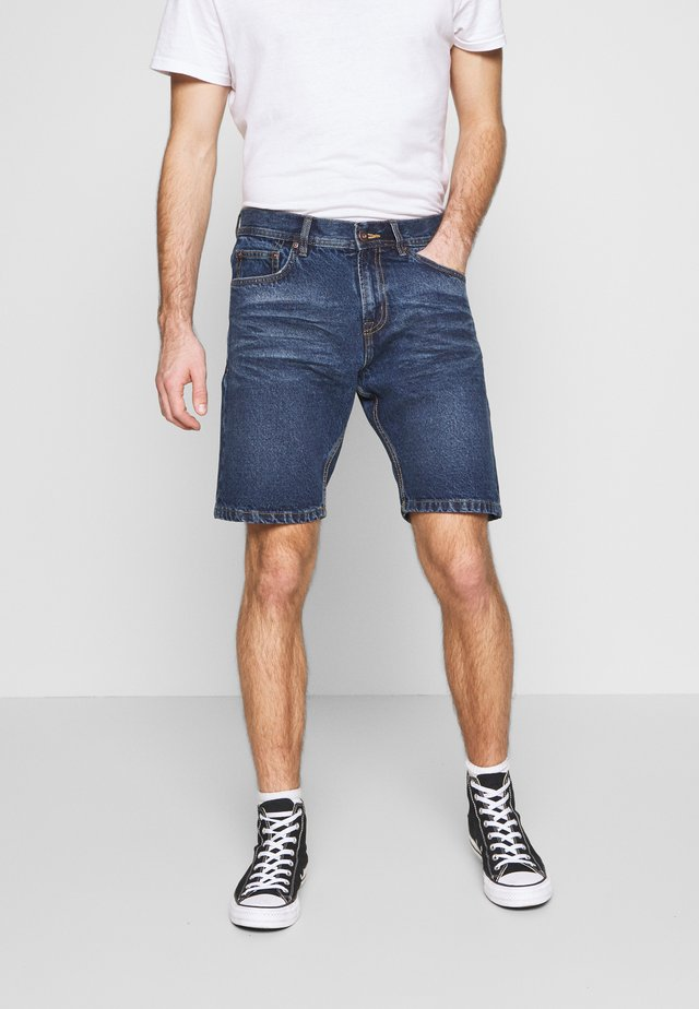 LOOSE FIT - Shorts di jeans - antique indigo