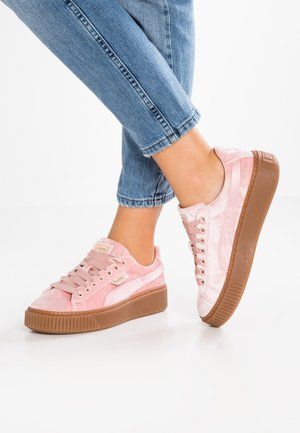 BASKET PLATFORM VS VELVET - Baskets basses - silver/pink/gold