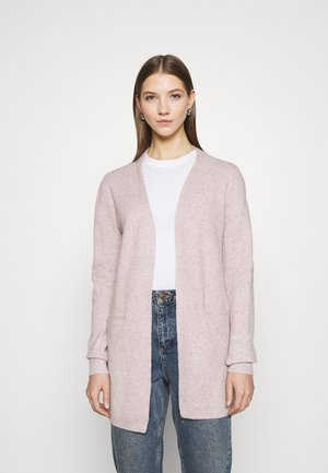 VMDOFFY SHORT OPEN - Cardigan - woodrose melange