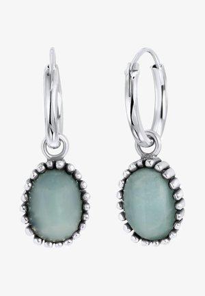MET HANGER GEMSTONE MALACHITE - Earrings - turquoise
