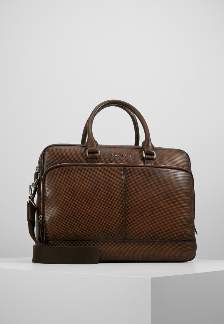 Bugatti - BRIEFBAG LARGE - Briefcase - brown