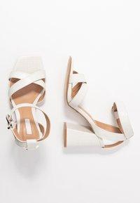 Topshop - SACHA BLOCK ANKLE TIE - Sandales à talons hauts - white - 3