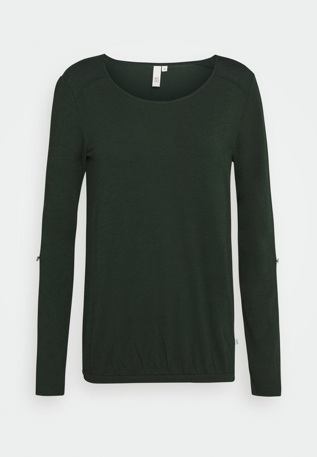 Langærmede T-shirts - dark green