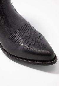 Felmini Wide Fit - WEST - Cowboy/biker ankle boot - lavado black - 2