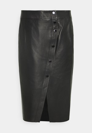 LUXURY SKIRT - Gonna di pelle - black