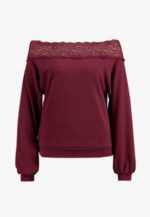 ONLMILA OFF SHOULDER - Sweater - tawny port