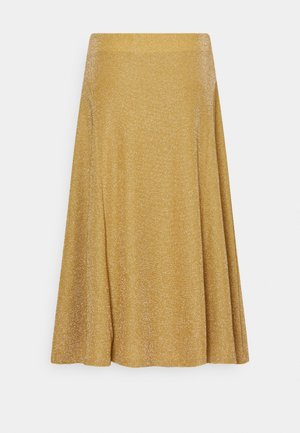 SPARKLE  - A-line skirt - gold metal
