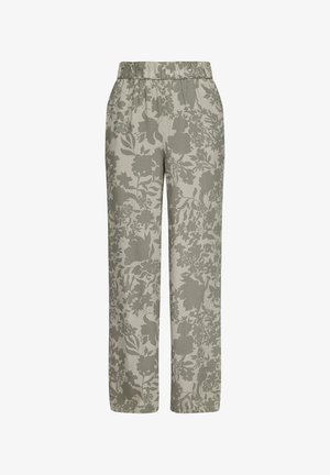 Trousers - summer khaki aop
